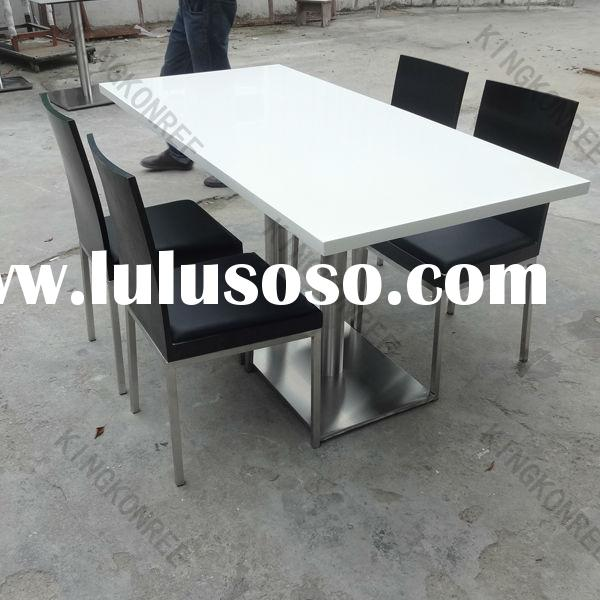 Modern Dining Tables and Chairs for Dining Room Furniture ,Sturdy Marble Top Square Dining Table Wit
