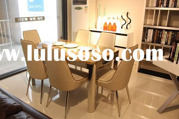 dining table design leather dining chair restaurant table and chairs CT502 & CY502
