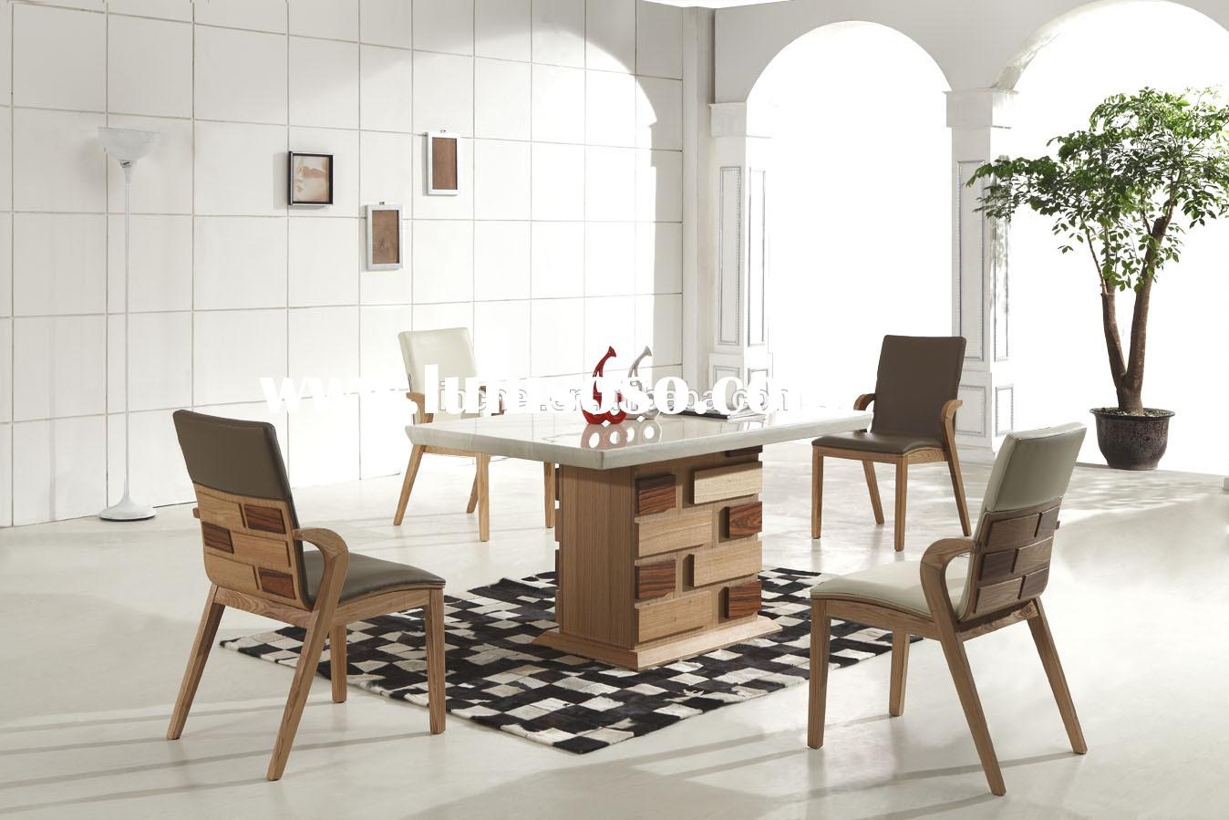 marble top dining set,dining room furniture,solid wood dining table chair LY01