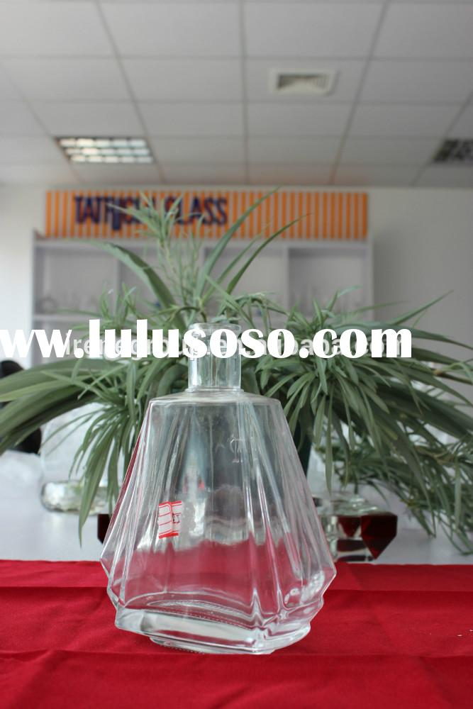wholesale empty crystal liquor glass bottles for alcohol, whisky, brandy, vodka, tequila, rum glass