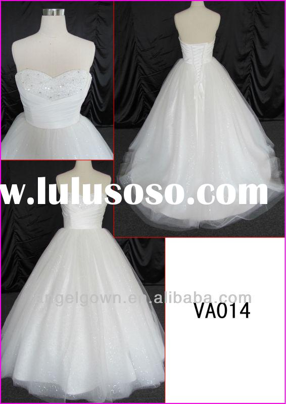 2014 guangzhou real sample ball wedding gown/bridal dress with heavy beading/sequin tulle/corset bac