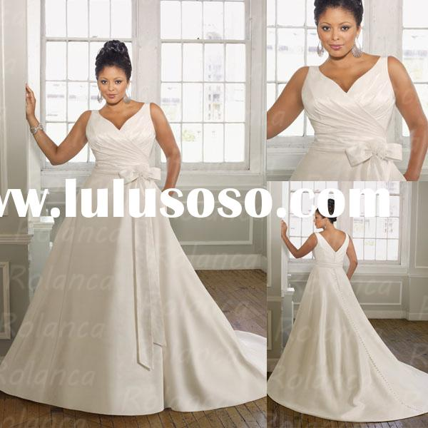 Ball gown sweet heart neckline snow white princess wedding dress for fat women 2014 Rolanca CXC2088