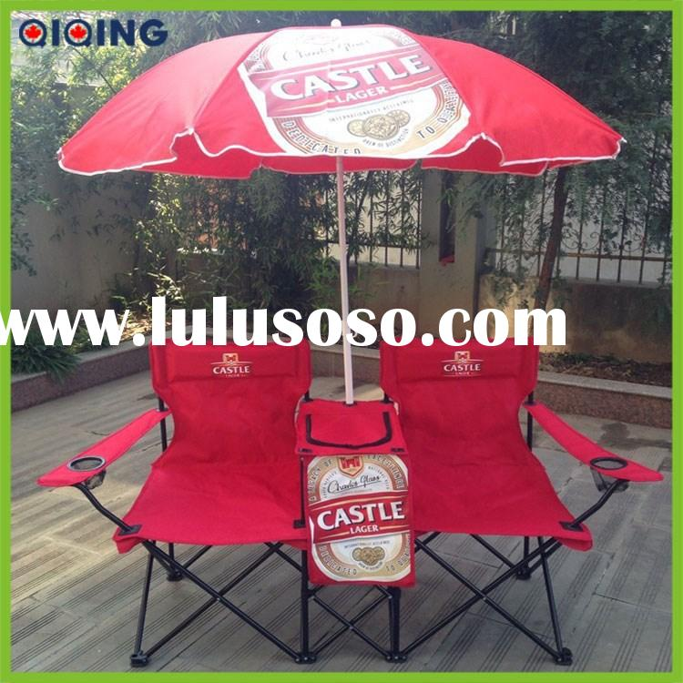 Folding camping with umbrella, double chair with canopy HQ-1001A-137