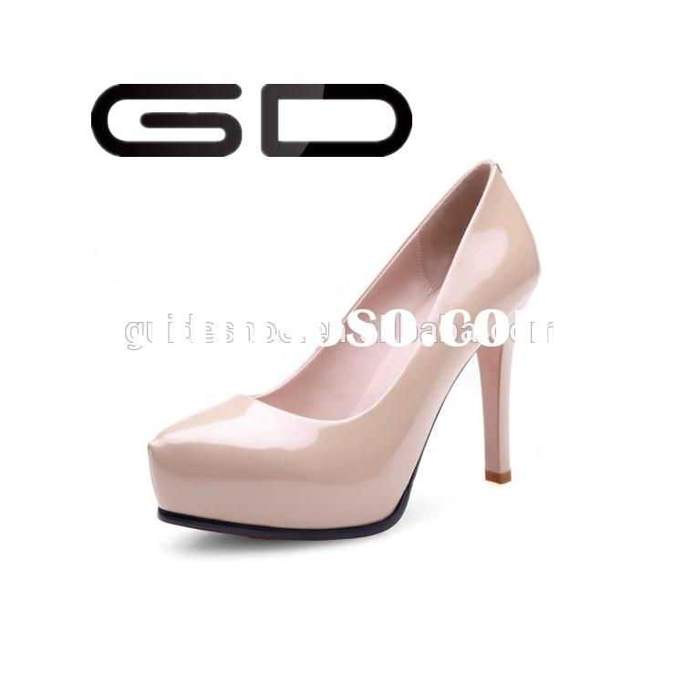 GD Low 2015 new leather shoes high heels for women's shoes for waterproof paint professional