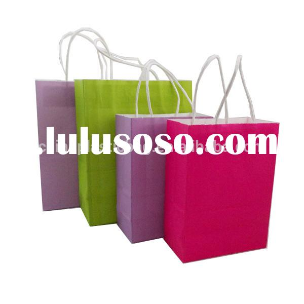 High quality eco-friendly small colored paper bag with handle decorations(zzmx025)