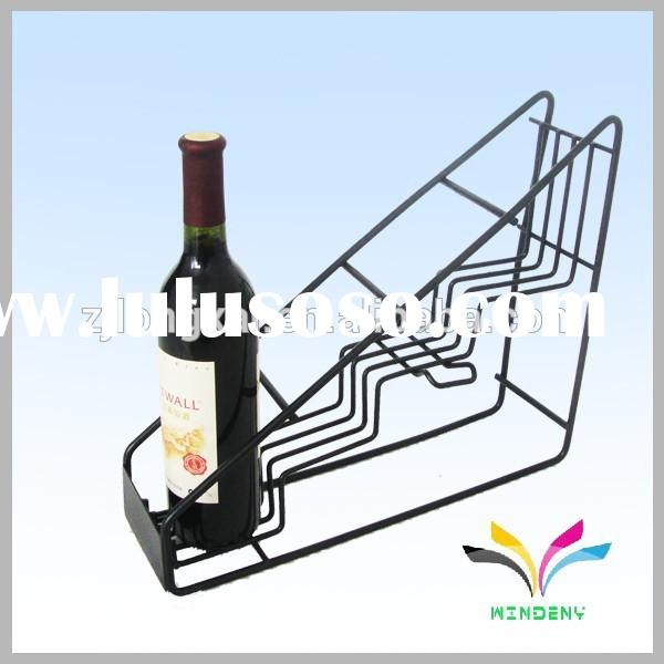 Home storage good quality floor stand metal wine rack for bottled wine