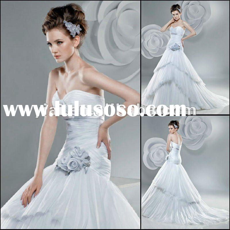 JJ2805 Newest Beaded Ball Gown Sleeveless Tulle wedding dresses 2015 bridal gown for women made in c
