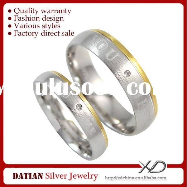 XD SA0207 CZ Stones Unique 925 Sterling Silver Rings for Couples