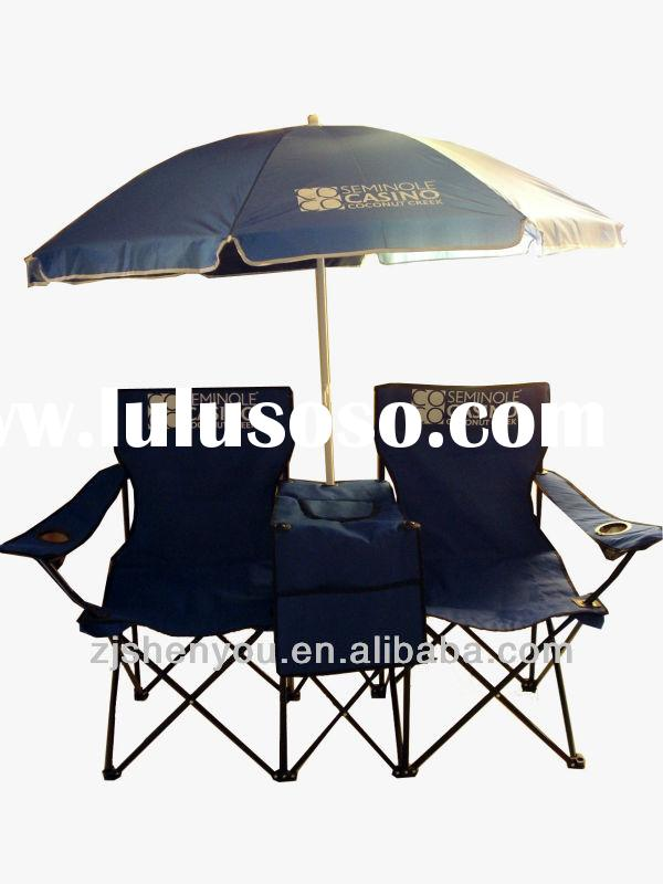 yongkang double camping chair with umbrella