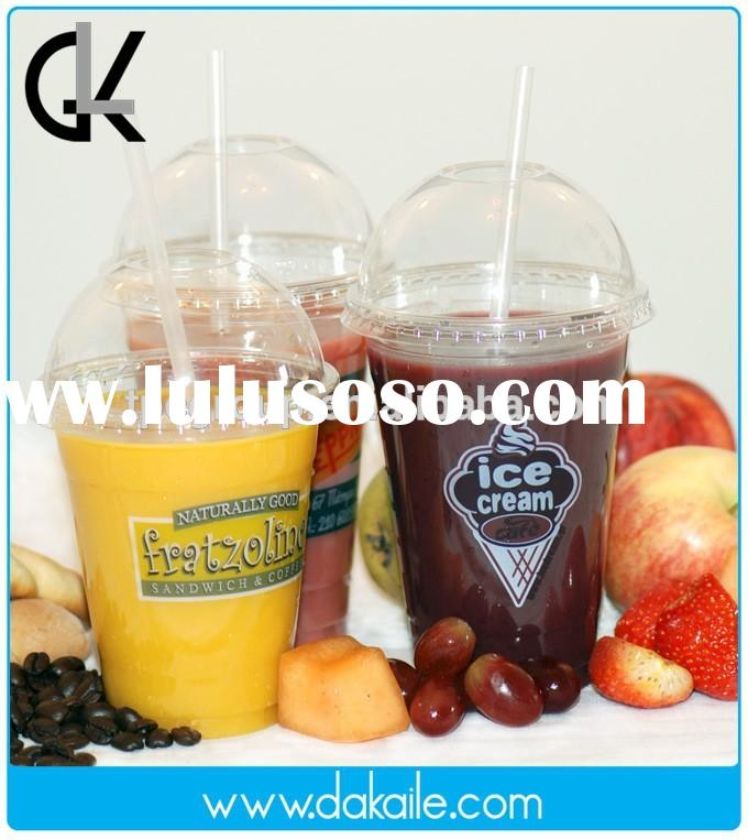 16oz plastic disposable pet cups with lids