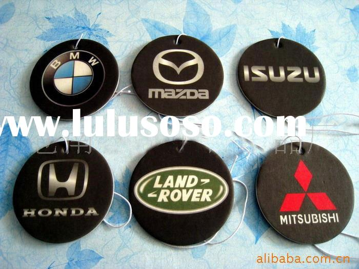 2015 new car scent custom make hanging paper car air freshener wholesale