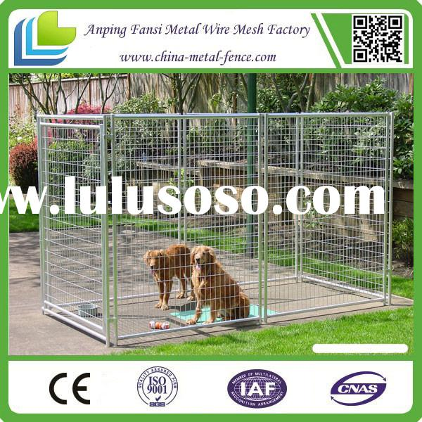 Alibaba china - Welded wire dog fence / outdoor large portable dog cage