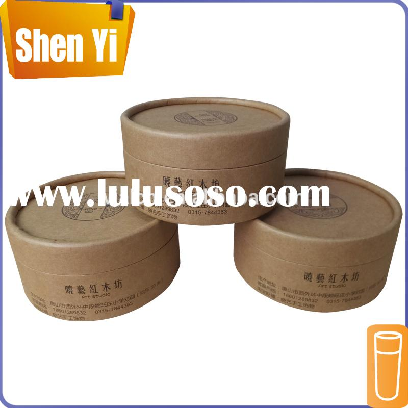 Good-selling decorative round cylinder paper storage boxes with lids