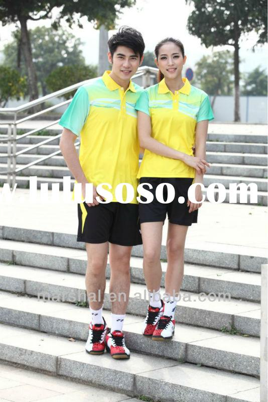 In stock badminton team jersey,badminton polo shirts and short,cheap volleyball jersey
