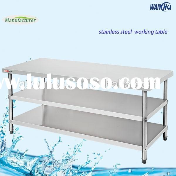 Kitchen stainless steel working table/metal work table/ used restaurant equipments for sales