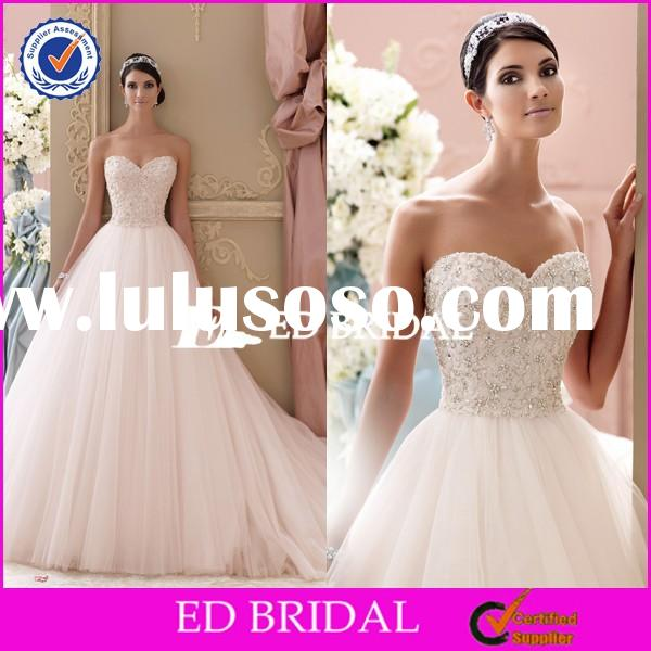 LX002 Real Sample Custom Made Heavy Beaded Crystals Pearls Ball Gown Wedding Dresses 2015
