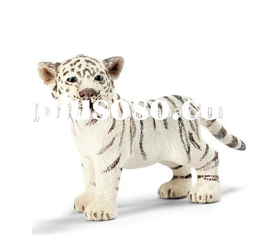Lifelike zoo animal toy plastic tiger, Plastic zoo animal set toy,Custom realistic zoo animals plast