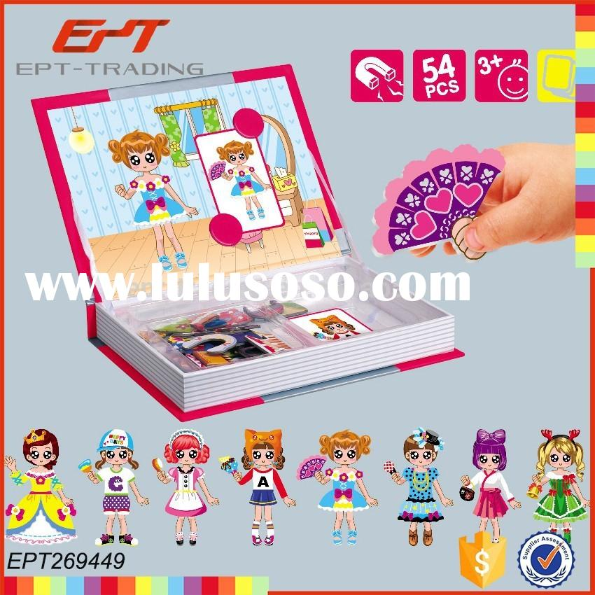 Magnetic education toy dress up game for girls