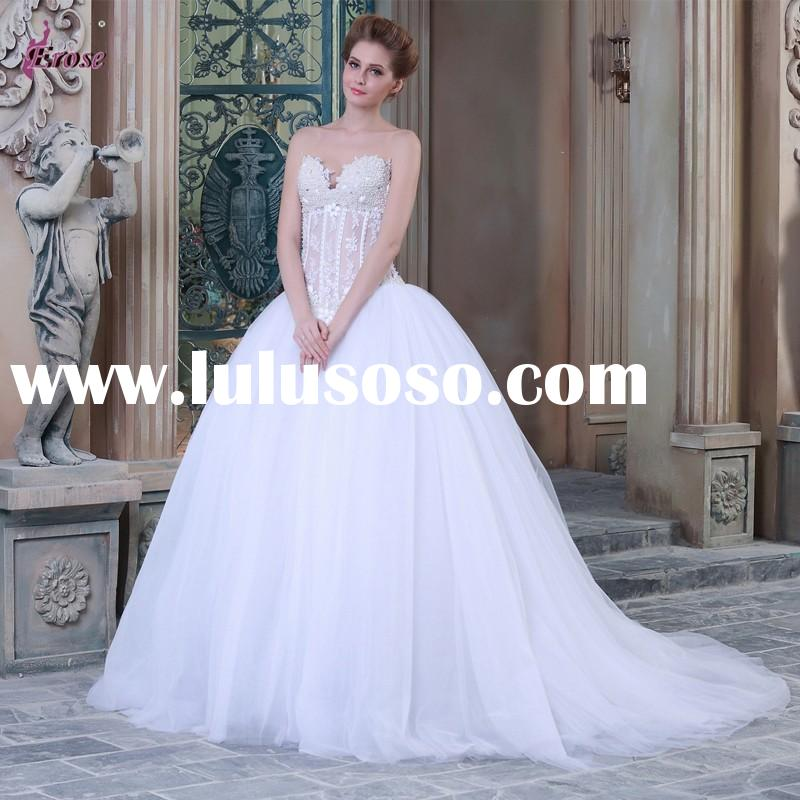 NA-018 Sweetheart Beaded Embroidered Ball Gown Wedding Dress 2015