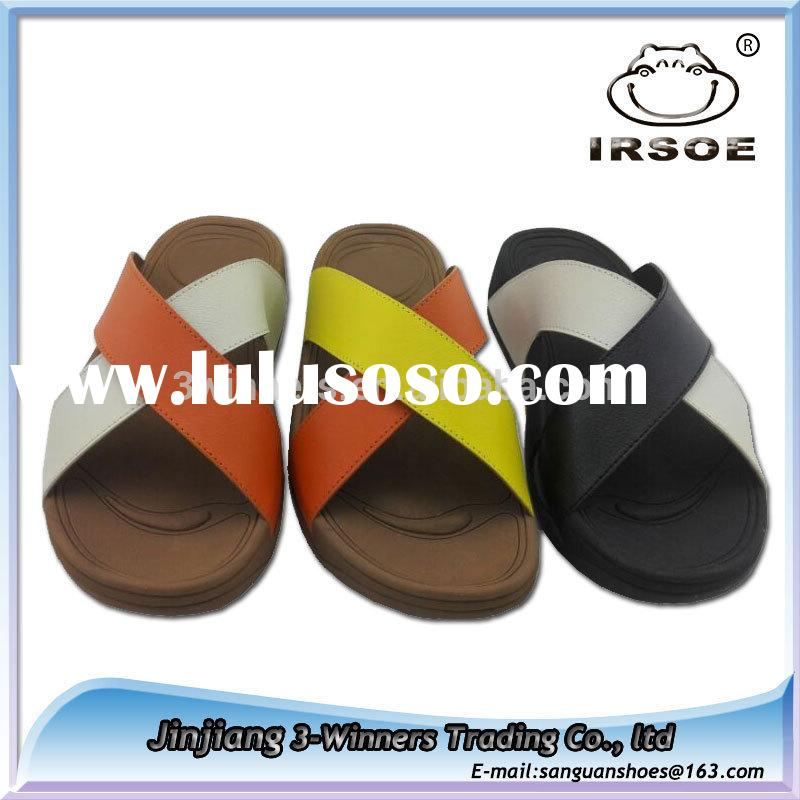 New arrival Men's imitated genuine leather slippers italian men EVA slippers