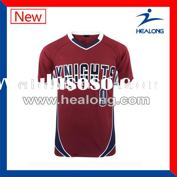 New deisgn sublimated volleyball jerseys cheap men's volleyball uniform red volleyball jerse