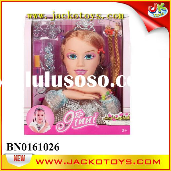 Pretty Fashion Costume Head For Girl Dressing Hair Game