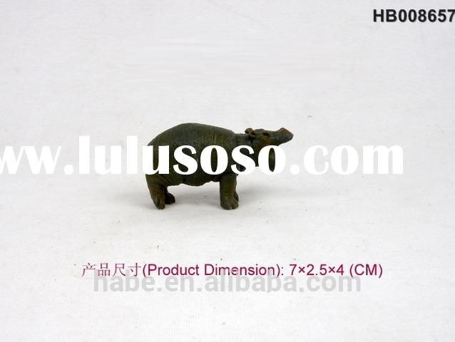 Rhinoceros Zoo Animals Plastic Toy