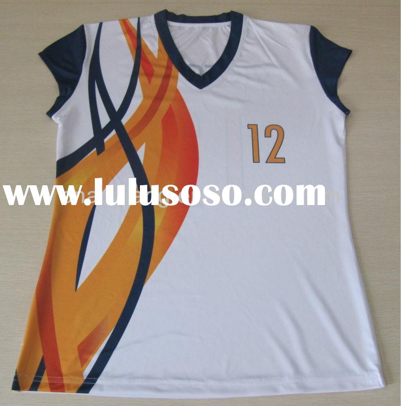 Wholesale cheap sublimated volleyball jerseys