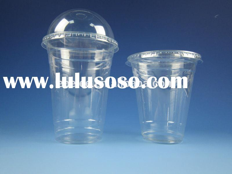 clear plastic cup with lids and straws for sale