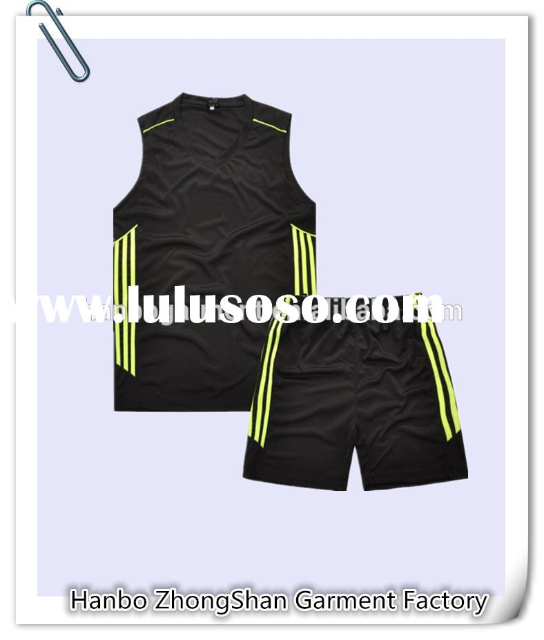 highly breathable sleevesless basketball wear cheap custom basketball jerseys polyester dry fit mens