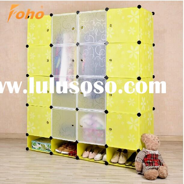 mixed color plastic shoe storage collapsible ikea wardrobes FH-AL0956-16