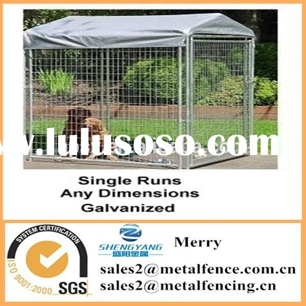 outdoor chain link dog kennel enclosure fence with roof