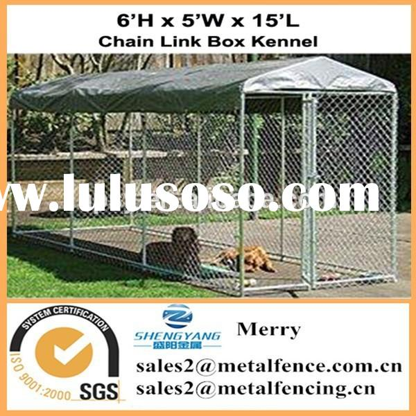 outdoor waterproof roof chain link dog kennel enclosure fence