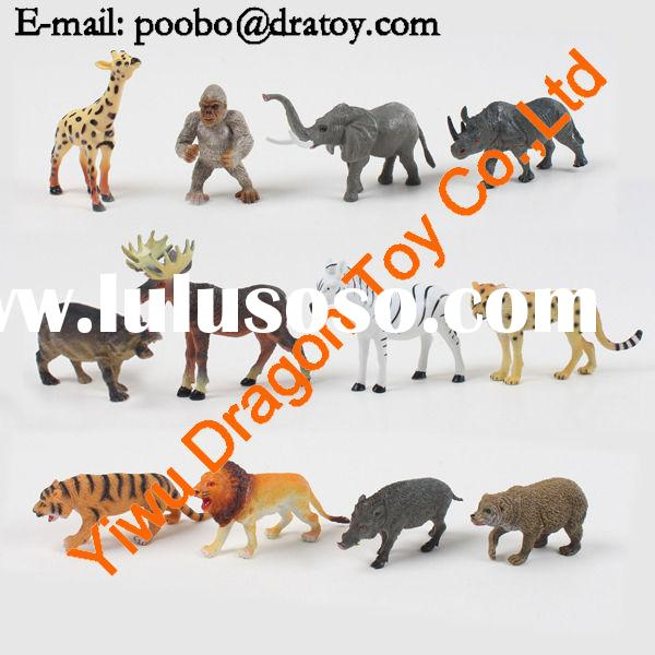plastic zoo animal toy,plastic animal toy, lovely animal toy set for kids