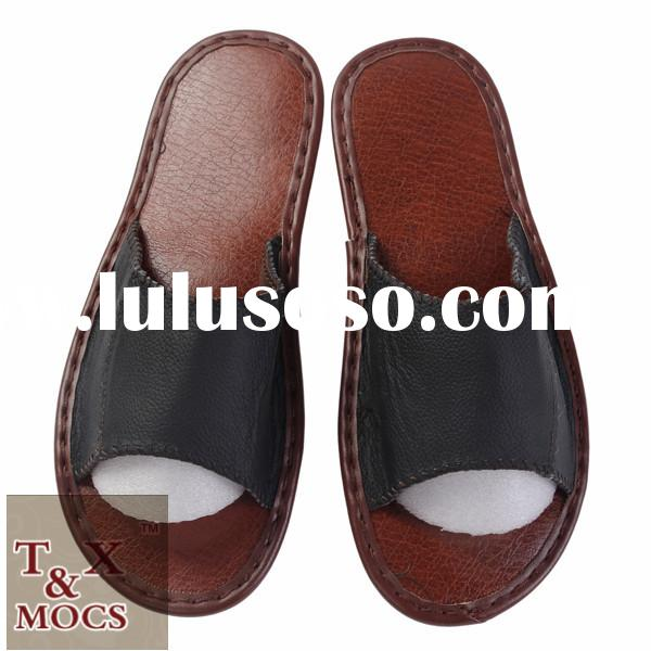 wholesale cheap leather italian ladies shoes china manufacturer slippers for mens