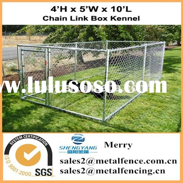 with roof outdoor chain link kennel enclosure fence for dog