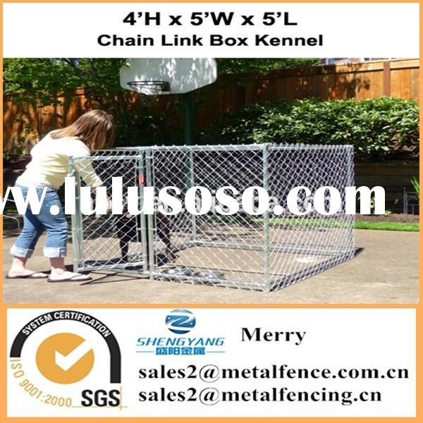 with roof single outdoor dog chain link kennel enclosure fence