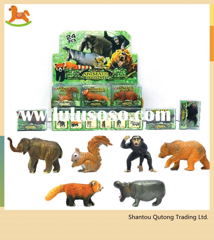 zoo animal set toy/ zoo animals plastic toy