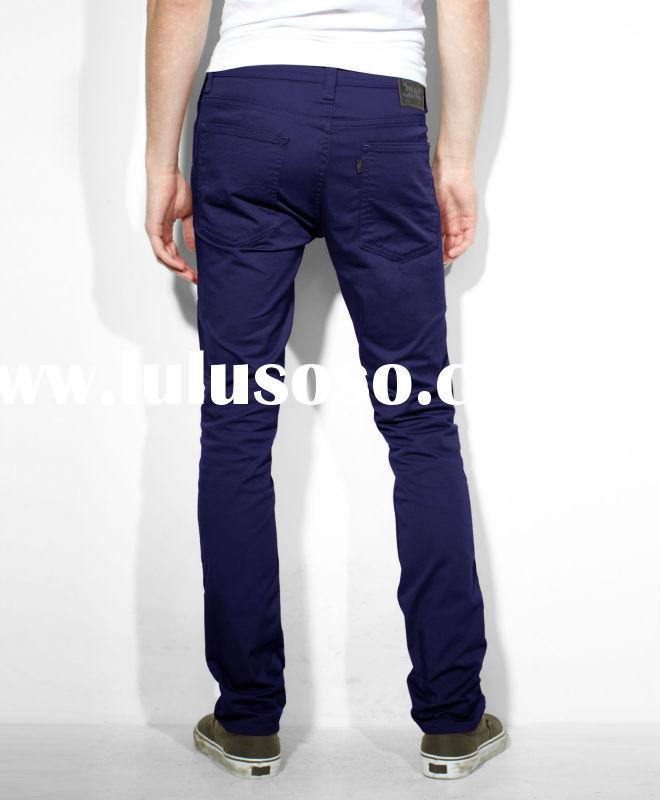 2013 fashion colored elastic skinny men jeans best jeans for men wholesale