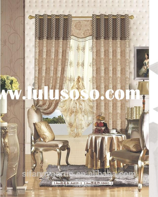 2014 hot selling classical jacquard curtains for bedroom read made curtains blackout curtains