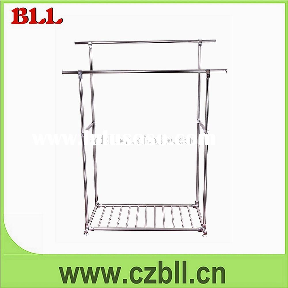 Baililai dressing room wholesale double pole laundry clothes drying rack