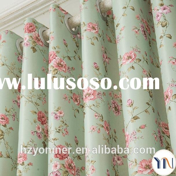 Beautiful flora print curtain for ladies' bedroom ladies's best choice china curtain