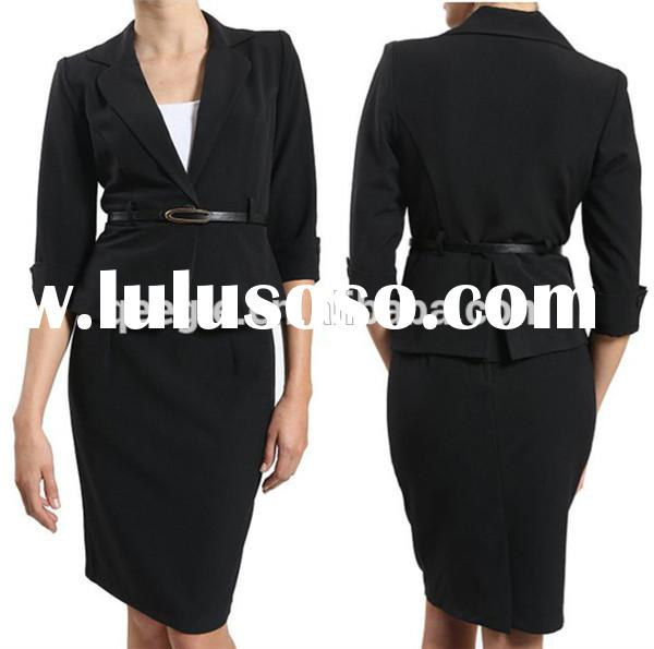 Black Skirt Suits,Ladies Formal Skirt Suit