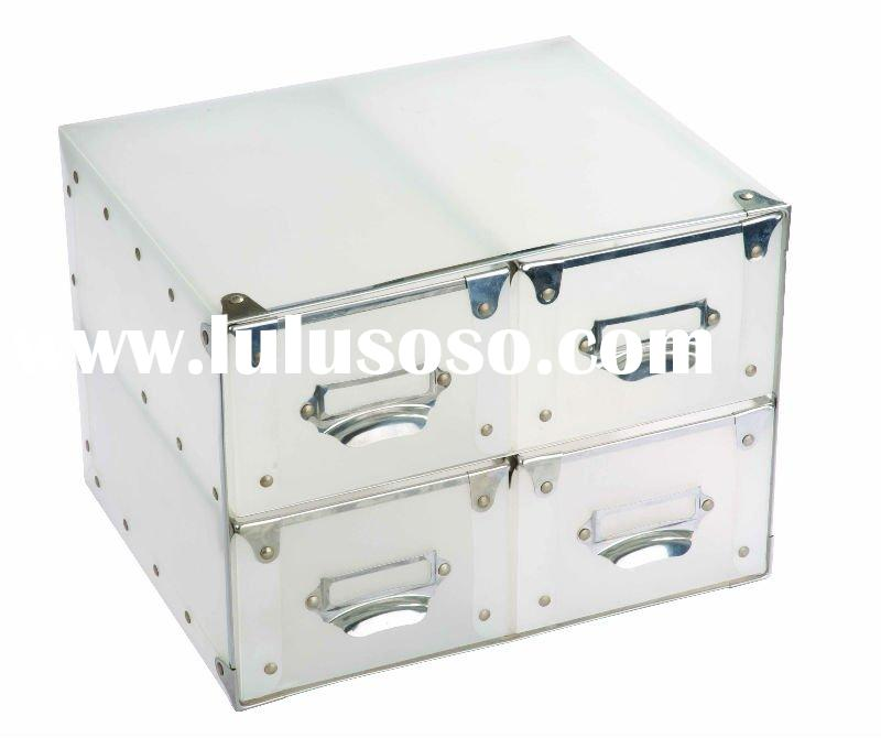 Clear Transparent PP Plastic Storage Boxes/Drawer/DIY Receive Boxes/Container with Handle