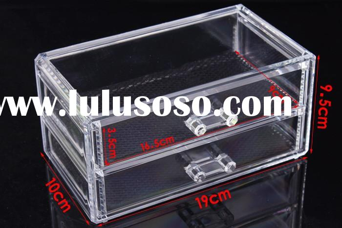 Clear plastic acrylic jewelry organizer storage box with drawers