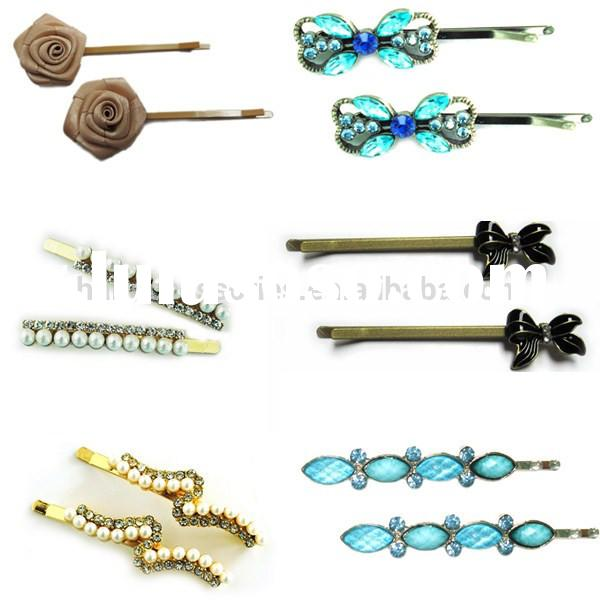 Clssic bobby hair pin for long hair - various styles hair clips for women