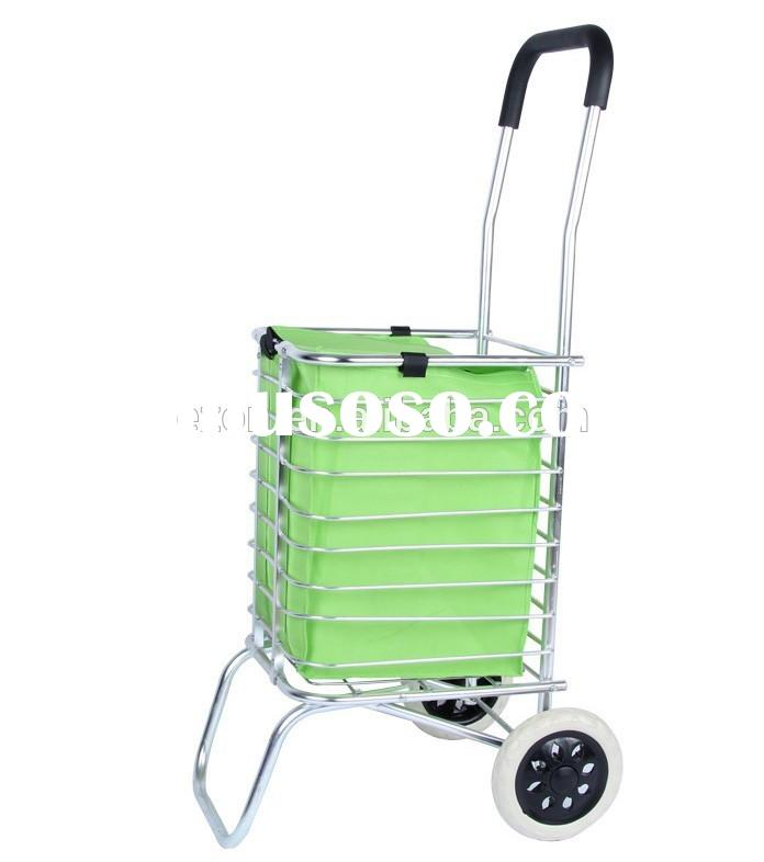 Collapsible metal shopping cart /Portable folding shopping cart with wheel/Foldable shopping cart wi