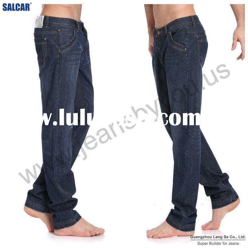 Customized European Fashion Design stretch skinny denim jeans for men