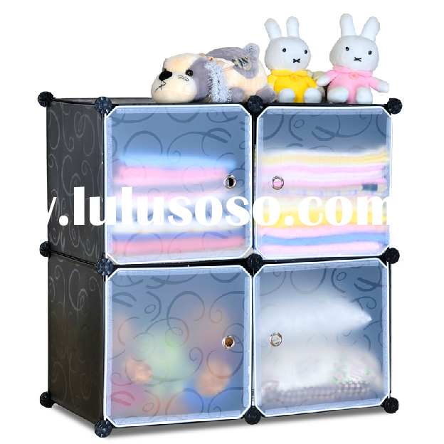 FH-AL0016-4 High quality PP material storage cabinets with doors and shelves