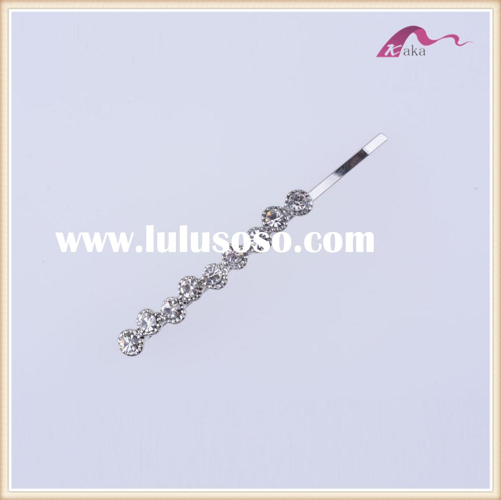 Fashion hair clips charming crystal hair clips girls metal bobby pins for long hair clips